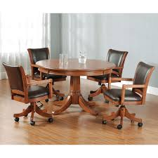 Chair Dining Table With Atrium Caster Chairs Dining Table With - Dining room chairs with rollers