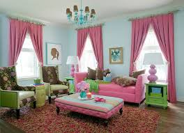 Pink Living Room Ideas Traditional Living Room Color Scheme With Pink Green Accent And
