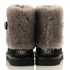 s ugg australia black boots ugg australia s sheepskin cuff boot flat mount mercy
