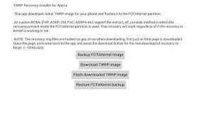 backup and restore apk xperia recovery manager for xperia apk free tools app for