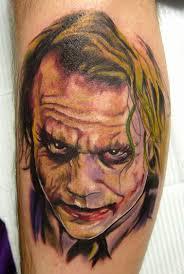 heath ledger joker tattoo by carter moore tattoonow
