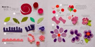 how to make felt flowers downloadable pdf guide to