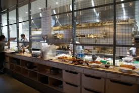 open kitchen cafe design