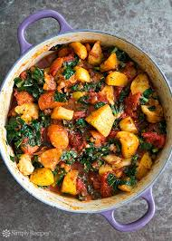 Celery Root Vegetable - roasted root vegetables with tomatoes and kale a ragout of