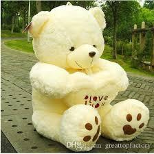 big teddy 2017 big sale white yellow 40cm big teddy i you