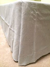 How To Make A Fitted Tablecloth For A Rectangular Table No Sew Bedskirt Tutorial Mind Blowingly Simple Designer Trapped