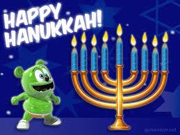 hanukkah banner happy of hanukkah gummibär