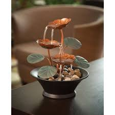 Jersey Home Decor Fountains Indoor Tabletop Water Lily Fountain Perfect Table Home Decoration