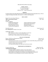 Resume Models For Mba Mba Student Resume Format Free Resume Example And Writing Download