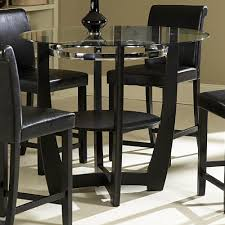 drop dead gorgeous homelegance counter height table dining table the glass topped sierra collection adds flair to any contemporary casual dining space the black finished table base of the counter height table is set off