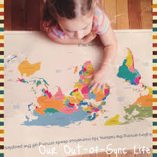 World Map Fabric by How To Give Your Children A Missionary Heart Our Out Of Sync Life