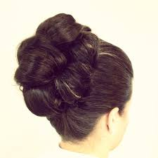 barrel curl hairpieces classic updo with barrel curls hair by meghan spears syrrasalon