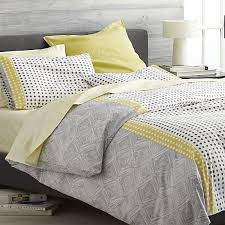 torben yellow duvet covers and pillow shams crate and barrel
