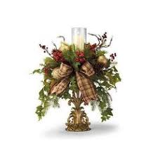 Christmas Hurricane Centerpiece - pinterest loving holiday decor front porches holidays and