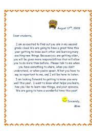10 best images of classroom welcome letter welcome back letter