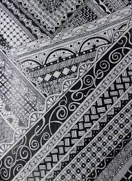 zentangle inspired art on moleskine cahier notebook using bic