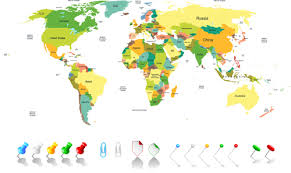 world maps free colored world map design vector vector maps free