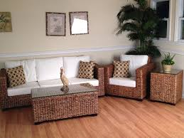 Indoor Settee Cushions by Furniture Cozy Pergo Flooring With Wicker Side Table And Wicker