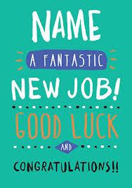 Congrats On New Job Card New Job Cards Funky Pigeon