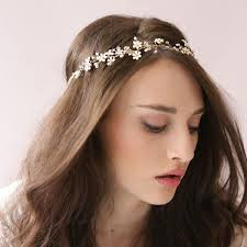 tiny enamel blossom hair vine bridal hairband acessories