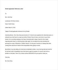 Rent Increase Letter Ma 9 rental reference letter template free word pdf format downlaod