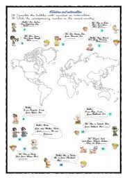 english worksheets nationalities worksheets page 12