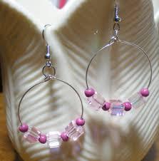 hoop beaded earrings new beaded hoop dangle earrings