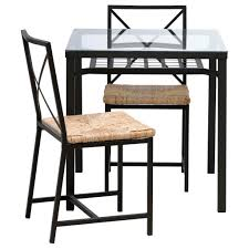 ikea glass dining table set grans table and 2 chairs ikea regarding glass dining table sets ikea