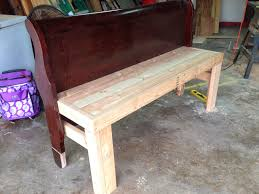 southern faces southern places diy bench from headboard