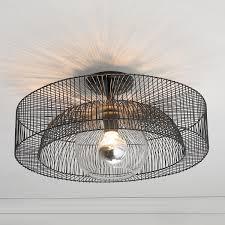 wire wheel semi flush ceiling light a simple wire spoke wheel