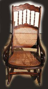 Cane Rocking Chairs For Sale Grecian Scroll Arm Spindle Back Grain Painted Caned Rocking Chair
