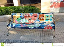 painted bench editorial stock image image 39754979