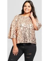 gold blouse plus size savings on s plus size sequin top xhilaration gold 3x