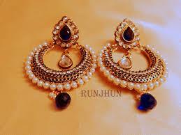 craftsvilla earrings buy royal blue chaandbali online shopping for earrings by