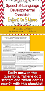 sample resume for speech language pathologist 585 best slp resources images on pinterest language activities speech language developmental checklist infant to 5 years