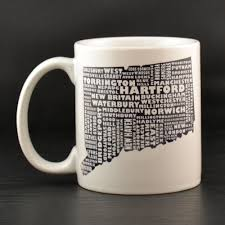 connecticut mug state map personalized mugs connecticut
