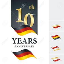 black and yellow ribbon anniversary 10 th years celebrating logo black yellow ribbon