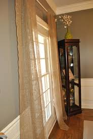 Drapes Lowes Curtains From Burlap Found In The Garden Section Of Lowes 3 For