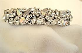 rose gold swarovski crystal bracelet images Swarovski crystal wedding cuff the crystal rose bridal jewelry jpg