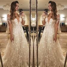 amazing wedding dresses flowers lace sleeve wedding dress 2018 illusion amazing