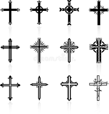 religious cross design collection stock vector illustration of