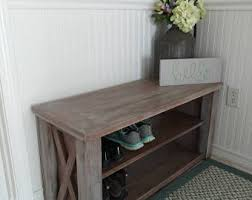 shoe storage bench etsy