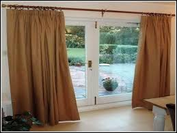 patio door curtain rods sliding glass rod saudireiki in double curtains ideas 5