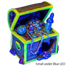 glofish treasure chest aquarium ornaments petsolutions