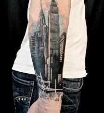 city forearm designs for tattoos