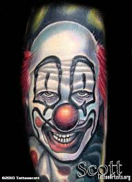 14 best crazy scary clown tattoo images on pinterest scary