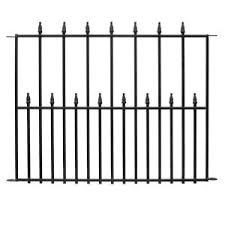 home depot ceramica black friday hampton bay empire 2 5 ft x 3 ft black steel 3 rail fence panel