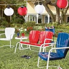 Metal Patio Furniture by Antique Metal Lawn Chairs At The Petal Patch Mcfarland Wi
