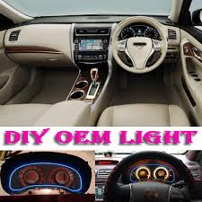 nissan teana modified car atmosphere light flexible neon light el wire interior light