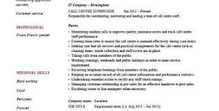 contact center manager job description resume resume sample of